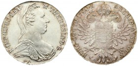 Austria 1 Thaler 1780 SF Restrike. Maria Theresia(1740-1780). Averse: Bust right. R.IMP.HU.BO.REG M.THERESIA.D.G. Reverse: Crowned imperial; double ea...