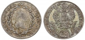 Austria 20 Kreuzer 1786 B Joseph II(1765-1790). Averse: Head right within wreath. Averse Legend: IOSEPH • II • D • G • R • ... Reverse: Crowned imperi...