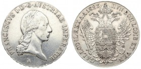 Austria 1 Thaler 1823 A Francis I (1815-1835). Averse: Laureate head right. Reverse: Crowned imperial double eagle. Reverse Legend: ...GAL. LOD. IL. R...