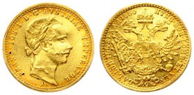 Austria 1 Ducat 1860 A Vienna Franz Joseph I(1848-1916). Averse: Laureate head right. Reverse: Crowned imperial double eagle. Gold. Scratches. KM 2264