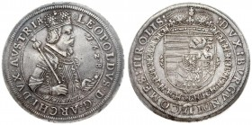 Austria 1 Thaler 1628 Hall. Leopold I (1657-1705). Averse: Laureate half-length armored figure r. holding scepter in circle. Reverse. Crowned Arms of ...