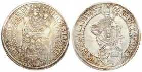 Austria Salzburg 1 Thaler 1657. Archidux of Guidobald von Thun and Hohenstein (1654-1668). Averse: Crowned and nimbly Madonna with a short scepter in ...
