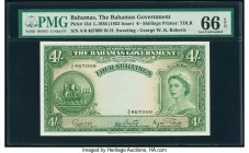 Bahamas Bahamas Government 4 Shillings 1936 (ND 1963) Pick 13d PMG Gem Uncirculated 66 EPQ.   HID09801242017  © 2020 Heritage Auctions | All Rights Re...