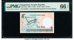 Bangladesh Printing Error Peoples Republic 2 Taka 2007 Pick 6Ck PMG Gem Uncirculated 66 EPQ.   HID09801242017  © 2020 Heritage Auctions | All Rights R...