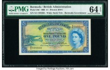 Bermuda Bermuda Government 1 Pound 1.10.1966 Pick 20d PMG Choice Uncirculated 64 EPQ.   HID09801242017  © 2020 Heritage Auctions | All Rights Reserve
