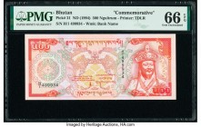Bhutan Royal Monetary Authority 500 Ngultrum ND (1994) Pick 21 Commemorative PMG Gem Uncirculated 66 EPQ.   HID09801242017  © 2020 Heritage Auctions |...