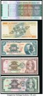 Brazil Group Lot of 5 Examples About Uncirculated-Crisp Uncirculated. Mostly Choice Uncirculated-Uncirculated except for the 5000 Cruzeiros, which is ...