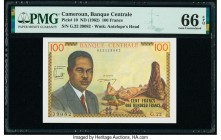 Cameroon Banque Centrale 100 Francs ND (1962) Pick 10 PMG Gem Uncirculated 66 EPQ.   HID09801242017  © 2020 Heritage Auctions | All Rights Reserve
