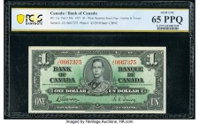 Canada Bank of Canada $1 2.1.1937 Pick 58d BC-21d PCGS Banknote Gem UNC 65PPQ.   HID09801242017  © 2020 Heritage Auctions | All Rights Reserve