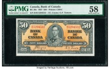 Canada Bank of Canada $50 2.1.1937 Pick 63c BC-26c PMG Choice About Unc 58.   HID09801242017  © 2020 Heritage Auctions | All Rights Reserve