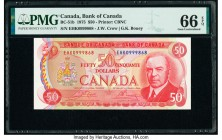 Canada Bank of Canada $50 1975 Pick 90b BC-51b PMG Gem Uncirculated 66 EPQ.   HID09801242017  © 2020 Heritage Auctions | All Rights Reserve