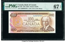 Canada Bank of Canada $100 1975 Pick 91b BC-52b PMG Superb Gem Unc 67 EPQ.   HID09801242017  © 2020 Heritage Auctions | All Rights Reserve