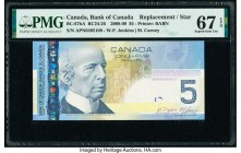 Canada Bank of Canada $5 2008 Pick 101Ab BC-67bA Replacement PMG Superb Gem Unc 67 EPQ.   HID09801242017  © 2020 Heritage Auctions | All Rights Reserv...