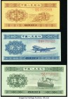 China People's Bank of China 1 Fen 1953 Pick 860a; 861a; 862a Three Examples with Serial Numbers Crisp Uncirculated. Possible trimming is evident.   H...
