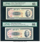 China Bank of Taiwan, Kinmen 50 Yuan 1969 (ND 1970) Pick R111; R123 Two Examples PMG Gem Uncirculated 65 EPQ; Gem Uncirculated 66 EPQ.   HID0980124201...