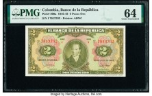 Colombia Banco de la Republica 2 Pesos Oro 20.7.1943 Pick 390a PMG Choice Uncirculated 64.   HID09801242017  © 2020 Heritage Auctions | All Rights Res...