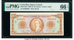 Costa Rica Banco Central de Costa Rica 20 Colones 30.6.1970 Pick 231a PMG Gem Uncirculated 66 EPQ.   HID09801242017  © 2020 Heritage Auctions | All Ri...