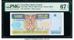 Costa Rica Banco Central de Costa Rica 5000 Colones 4.5.1994 Pick 260b PMG Superb Gem Unc 67 EPQ.   HID09801242017  © 2020 Heritage Auctions | All Rig...