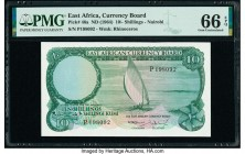 East Africa East African Currency Board 10 Shillings ND (1964) Pick 46a PMG Gem Uncirculated 66 EPQ.   HID09801242017  © 2020 Heritage Auctions | All ...