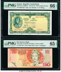 Fiji Reserve Bank of Fiji 50 Dollars ND (1996) Pick 100a PMG Gem Uncirculated 65 EPQ. Ireland - Republic Central Bank of Ireland 1 Pound 17.5.1974 Pic...