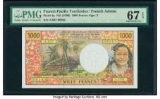 French Pacific Territories Institut d'Emission d'Outre Mer 1000 Francs ND (1996) Pick 2a PMG Superb Gem Unc 67 EPQ.   HID09801242017  © 2020 Heritage ...