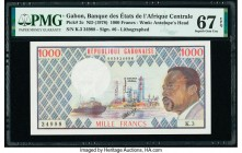 Gabon Banque des Etats de l'Afrique Centrale 1000 Francs ND (1978) Pick 3c PMG Superb Gem Unc 67 EPQ.   HID09801242017  © 2020 Heritage Auctions | All...
