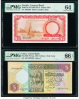 Gambia The Gambia Currency Board 1 Pound ND (1965-70) Pick 2a PMG Choice Uncirculated 64. Libya Central Bank of Libya 5 Dinars ND (ca. 1991) Pick 60b ...