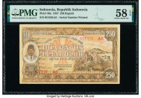 Indonesia Republik Indonesia 250 Rupiah 1947 Pick 30a PMG Choice About Unc 58 EPQ.   HID09801242017  © 2020 Heritage Auctions | All Rights Reserve
