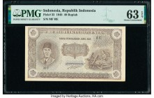Indonesia Republik Indonesia 40 Rupiah 23.8.1948 Pick 33 PMG Choice Uncirculated 63 EPQ.   HID09801242017  © 2020 Heritage Auctions | All Rights Reser...