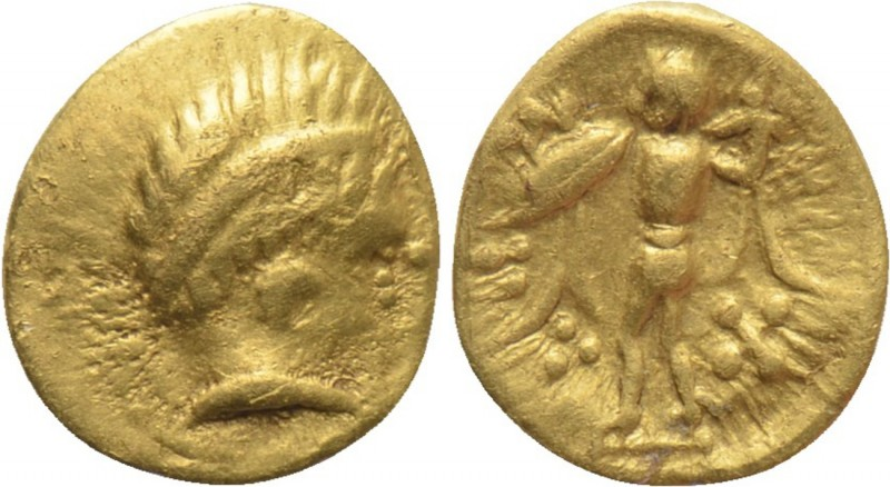 "CENTRAL EUROPE. Boii. GOLD 1/24 Stater (2nd century BC). Type ""Athena Alkis"".