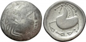 "EASTERN EUROPE. Imitations of Philip II of Macedon (2nd century BC). ""Tetradrachm."" Mint in the northern Carpathian region. ""Schnabelpferd"" type"