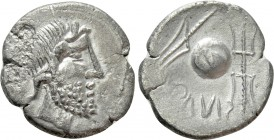 EASTERN EUROPE. Imitating a republican denarius of moneyer Cn. Lentulus (Mid-late 1st century BC). Eravisci