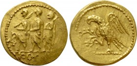 KINGS OF SKYTHIA. Koson. GOLD Stater (Mid 1st century BC)