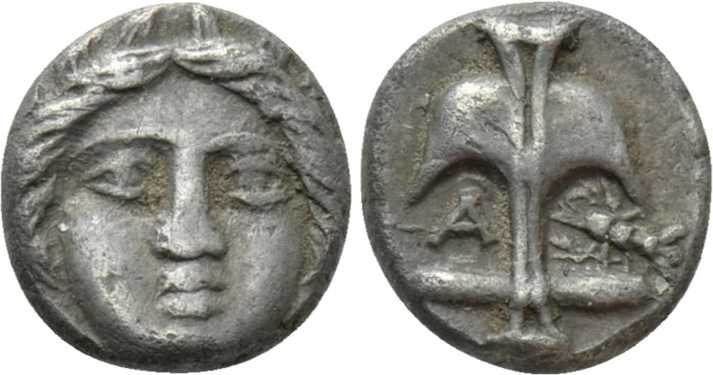 THRACE. Apollonia Pontika. Diobol (Circa 375-335 BC). 