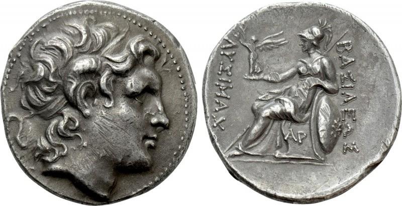 KINGS OF THRACE (Macedonian). Lysimachos (305-281 BC). Tetradrachm. Uncertain mi...