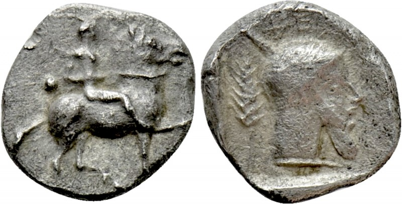 MACEDON. Potidaia. Diobol (Circa 450-432 BC). 