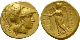 KINGS OF MACEDON. Alexander III 'the Great' (336-323 BC). GOLD Stater. Babylon