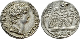 SELEUCIS & PIERIA. Antioch. Nero (54-68). Tetradrachm. Dated RY 10 and Year 112 of the Caesarean Era (63/4)