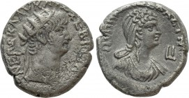 EGYPT. Alexandria. Nero with Poppaea (54-68). BI Tetradrachm. Dated RY 10 (63/4)