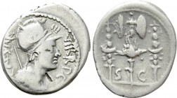 OCTAVIAN. Denarius (42 BC). Military mint traveling with Octavian in Greece