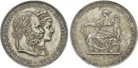 Austrian Empire. Franz Joseph I with Elisabeth (1848-1916). Doppelgulden (1879). Vienna. Commemorating the Royal Silver Wedding