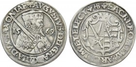 GERMANY. Sachsen. August (1553-1586). 1/4 Taler (1569-HB). Dresden