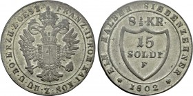 HOLY ROMAN EMPIRE. Franz II (1792-1806). 8 1/2 Kreuzer (1802 F). Hall