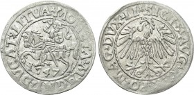 LITHUANIA. Sigismund August of Poland (1544-1572). Half Grosh (1547)