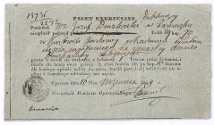 Palet Exekucyi Opoczno 1844 - 29 rubli i 70 kopiejek 