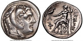 MACEDONIAN KINGDOM. Alexander III the Great (336-323 BC). AR tetradrachm (29mm, 17.18 gm, 8h). NGC AU 5/5 - 4/5. Posthumous issue of Amphipolis, 315-2...