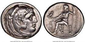MACEDONIAN KINGDOM. Alexander III the Great (336-323 BC). AR tetradrachm (27mm, 1h). NGC XF. Posthumous issue of uncertain mint in Greece or Macedonia...