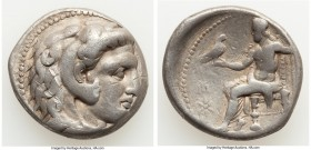 MACEDONIAN KINGDOM. Alexander III the Great (336-323 BC). AR tetradrachm (26mm, 16.68 gm, 11h). Fine. Posthumous issue of Sardes, ca. 319-315 BC. Head...