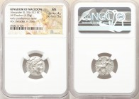 MACEDONIAN KINGDOM. Alexander III the Great (336-323 BC). AR drachm (16mm, 4.25 gm, 1h). NGC MS 4/5 - 5/5. Posthumous issue of Lampsacus, ca. 310-301 ...