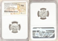MACEDONIAN KINGDOM. Alexander III the Great (336-323 BC). AR drachm (18mm, 6h). NGC AU. Posthumous issue of Lampsacus, ca. 310-301 BC. Head of Heracle...